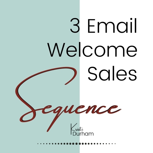 3 email welcome sales sequence